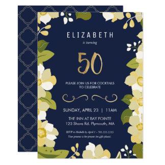第50誕生日のパーティの招待状は第50をカスタマイズします カード