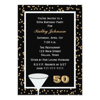 第50誕生日のパーティの招待状50および紙吹雪 12.7 X 17.8 インビテーションカード