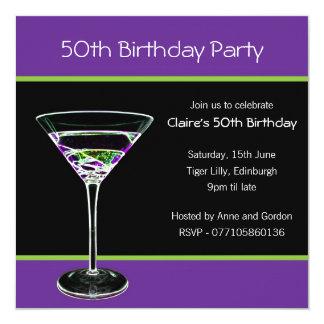 第50誕生日のパーティの招待状 カード