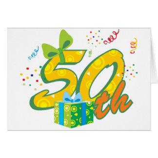 第50誕生日のメッセージカード カード