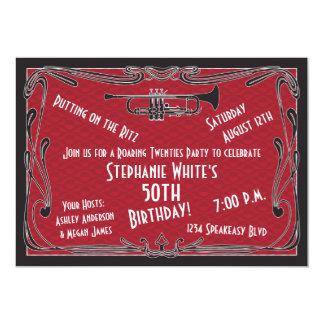 第50誕生日の招待のとどろく二十代のもぐり酒場 12.7 X 17.8 インビテーションカード