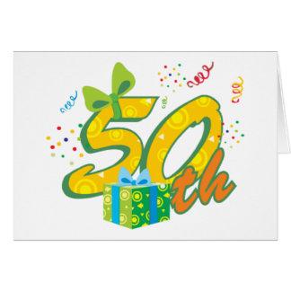 第50誕生日の挨拶状 カード