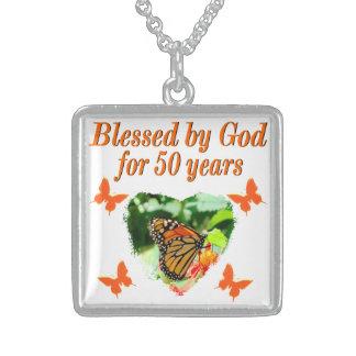 第50誕生日の蝶 スターリングシルバーネックレス