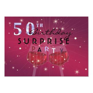第50誕生日の驚きのパーティの招待状 カード