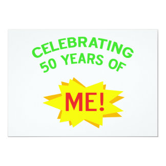 第50誕生日プレゼントを祝うこと カード