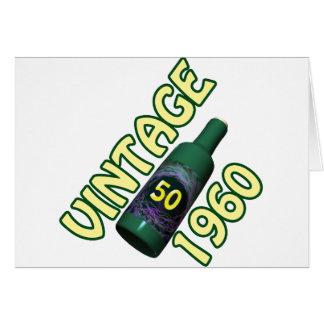 第50誕生日プレゼント1960年 カード