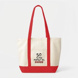 第50誕生日プレゼント、50は5完全な10sです! トートバッグ