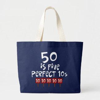 第50誕生日プレゼント、50は5完全な10sです! ラージトートバッグ