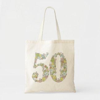 第50誕生日記念日のギフトショーのショルダー・バッグ トートバッグ