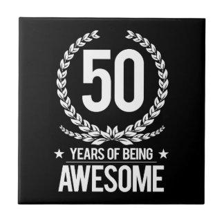 第50誕生日(素晴らしい50あ年間の) タイル