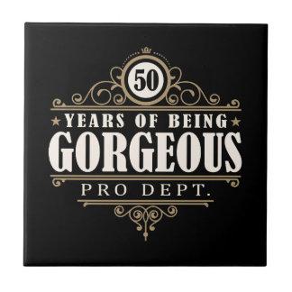 第50誕生日(豪華50あ年間のであること) タイル