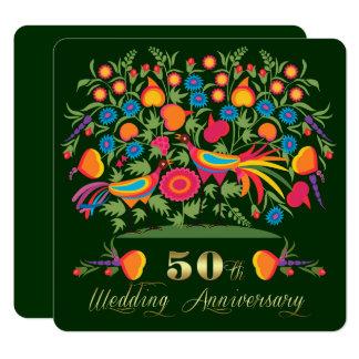 第50金結婚記念日のパーティの招待状 カード