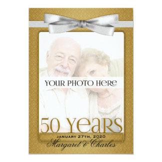 第50金結婚記念日の写真の招待状 カード