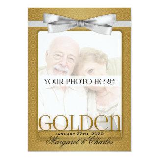 第50金結婚記念日の写真の招待状 12.7 X 17.8 インビテーションカード