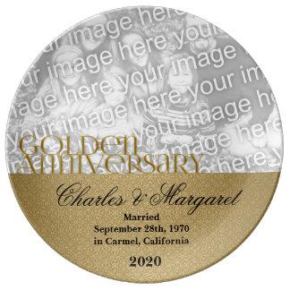 第50金結婚記念日の写真 磁器 食器