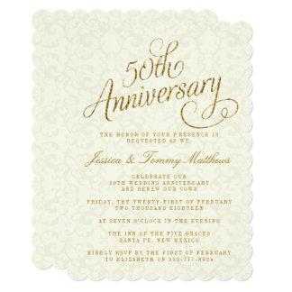 第50金結婚記念日の招待状 12.7 X 17.8 インビテーションカード