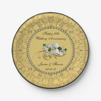 第50金結婚記念日の紙皿 ペーパープレート