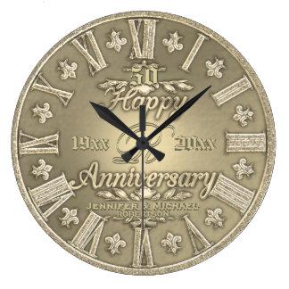 第50金結婚記念日 ラージ壁時計