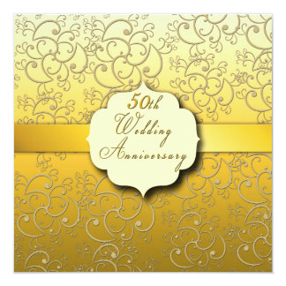 第50金結婚記念日- 13.3 スクエアインビテーションカード