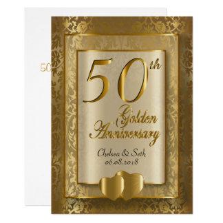 第50金結婚記念日  DIYの文字 カード
