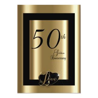 第50金結婚記念日  DIYの文字 12.7 X 17.8 インビテーションカード