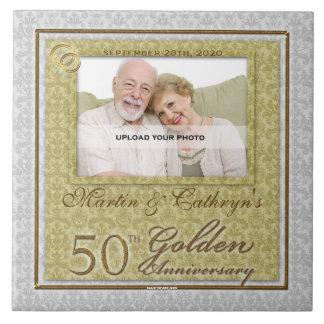 第50金記念日の写真のタイル タイル