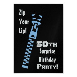第50驚きの誕生日のパーティの招待状のテンプレート カード