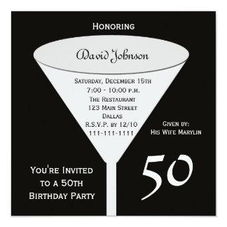 第50黒の誕生日のパーティの招待状50 カード