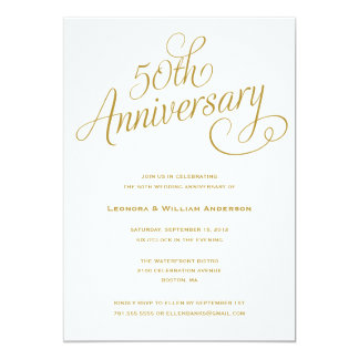 第50 |の結婚記念日の招待状 12.7 X 17.8 インビテーションカード