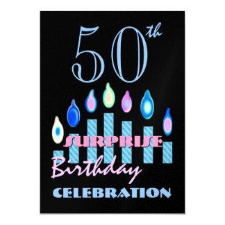 第50 -第59驚きの誕生日のパーティの招待状 カード