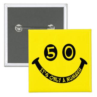 第50|誕生日|スマイリー|顔、|It' s|ただ|数! 缶バッジ