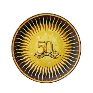 """第50 Annniversary 8.5""""家宝の磁器皿 磁器プレート"""