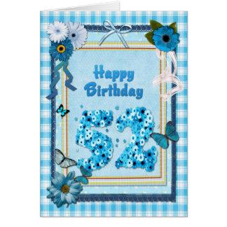 第52スクラップブックの効果の誕生日 カード