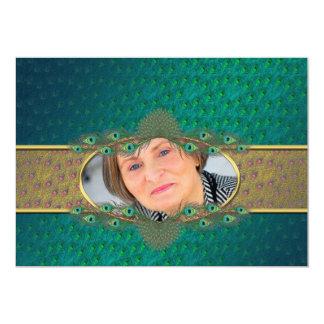 第52誕生日のエレガントで装飾的な写真の招待状 カード