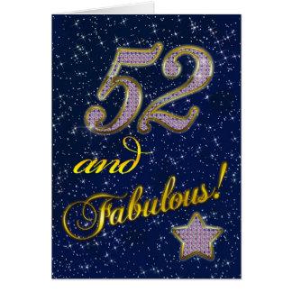 第52誕生日のパーティの招待状 カード