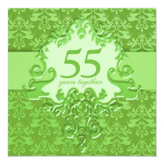 第55エメラルドの結婚記念日のパーティの招待状 カード
