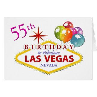 第55ラスベガスのバースデー・カード カード