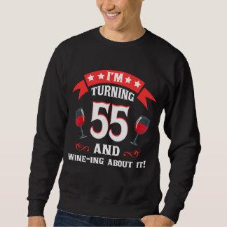 第55ワイン愛好家のための誕生日プレゼント スウェットシャツ