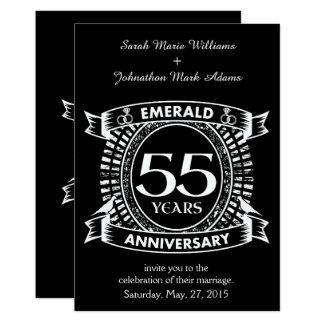 第55結婚記念日のエメラルドの頂上 カード