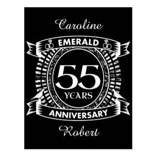 第55結婚記念日のエメラルドの頂上 ポストカード