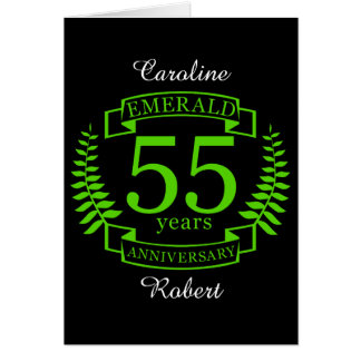 第55結婚記念日のエメラルド カード