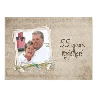 第55結婚記念日のオープンハウス カード