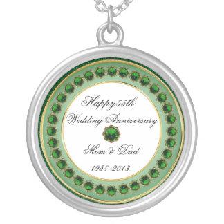 第55結婚記念日のネックレス シルバープレートネックレス