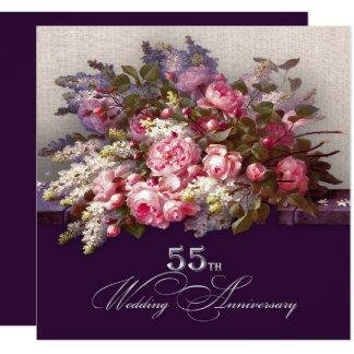 第55結婚記念日のパーティの招待状 カード
