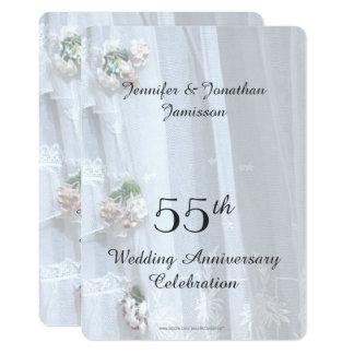 第55結婚記念日のパーティー、ヴィンテージのレース カード