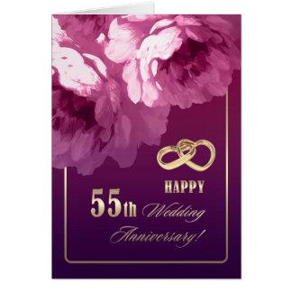 第55結婚記念日の挨拶状 カード