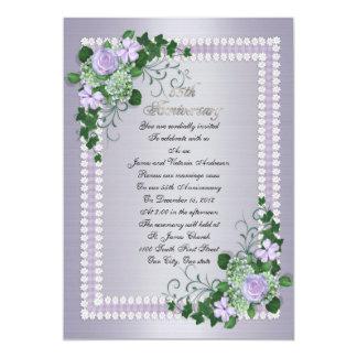 第55結婚記念日の誓約の更新のラベンダー カード