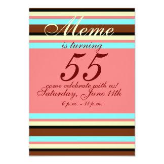 第55誕生日の招待状 カード