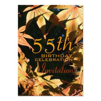 第55誕生祝いの秋のカスタムの招待状 カード