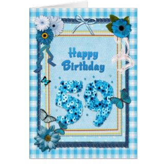 第59スクラップブックの効果の誕生日 カード